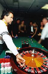 full size roulette tables for casino parties